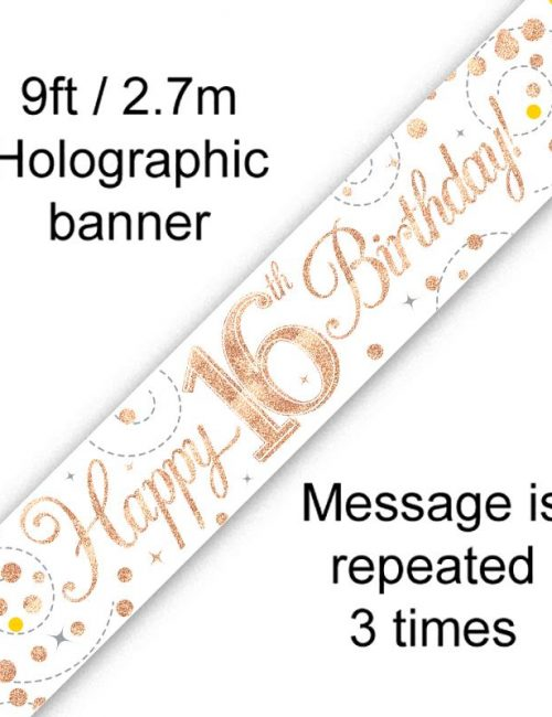 Banner Rose Gold Fizz 16th