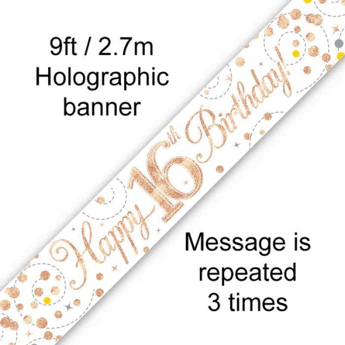 Banner Rose Gold Fizz 16th
