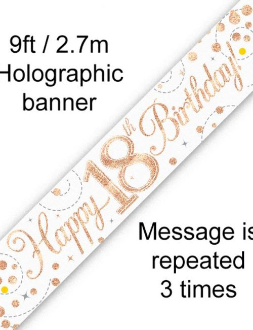 Banner Rose Gold Fizz 18th