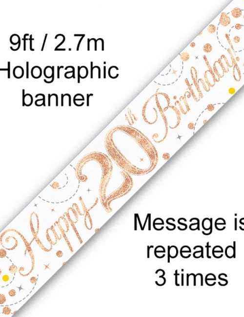 Banner Rose Gold Fizz 20th