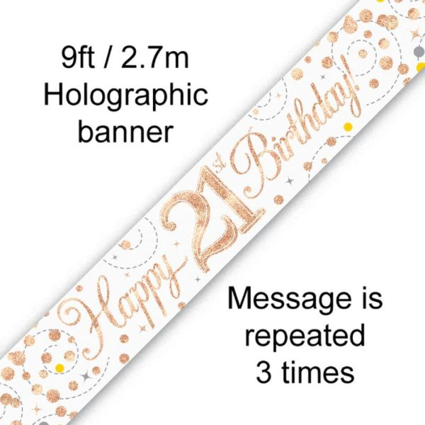 Banner Rose Gold Fizz 21st