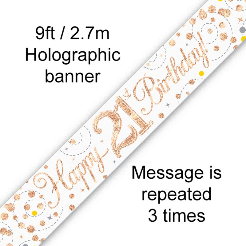 Banner Rose Gold Fizz 21st