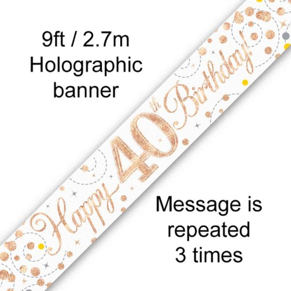 Banner Rose Gold Fizz 40th