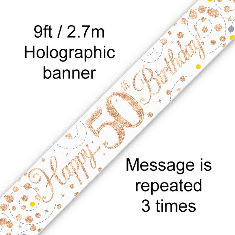 Banner Rose Gold Fizz 50th