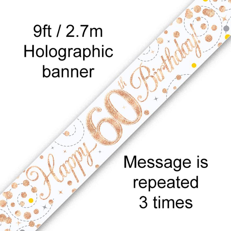 Banner Rose Gold Fizz 60th