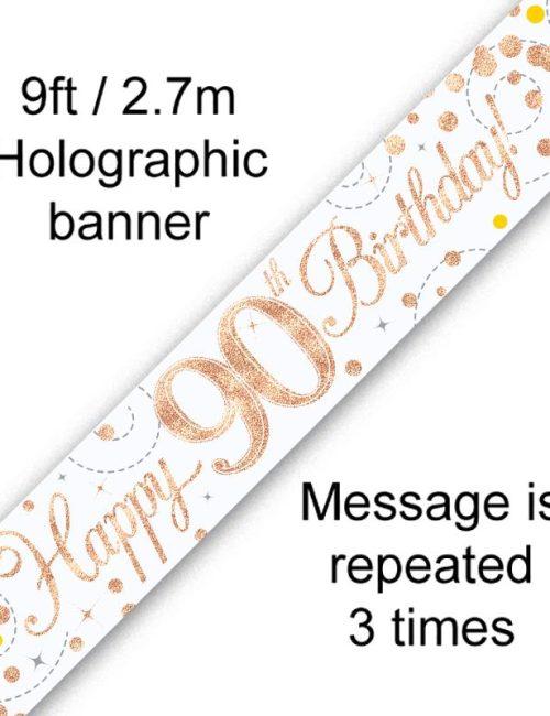 Banner Rose Gold Fizz 90th