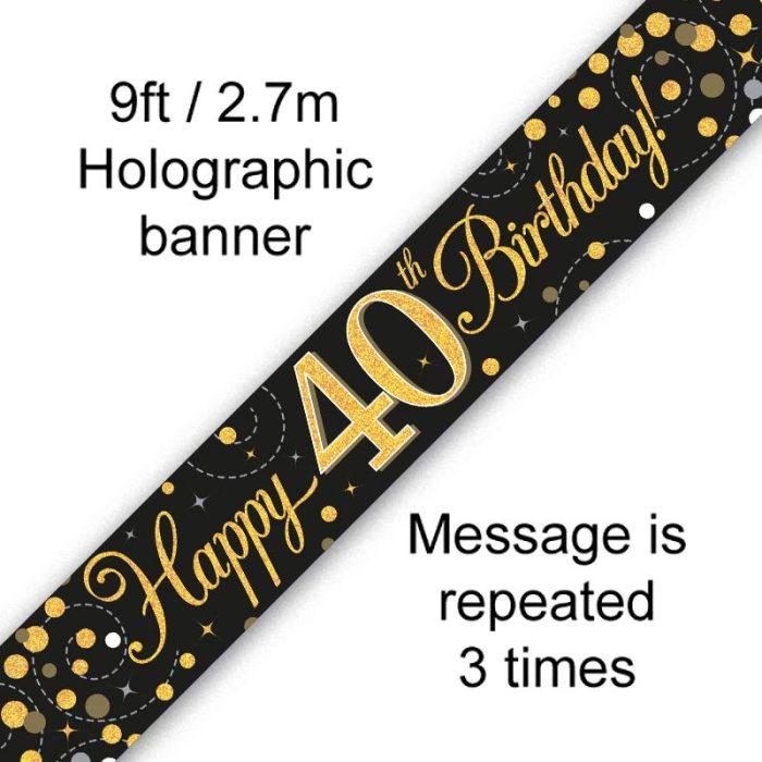 Banner Fizz Black 40th