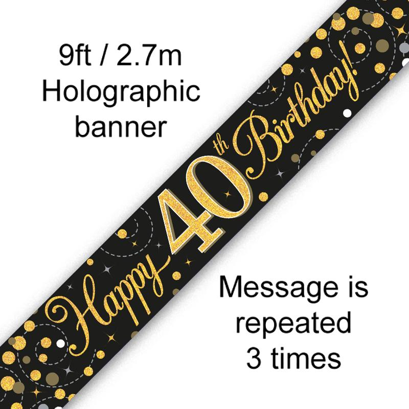 Banner Fizz Black 40th