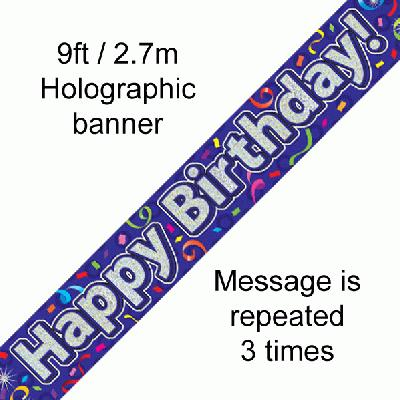 Banner Happy Birthday Streamer