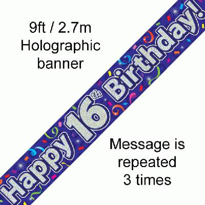Banner Streamers 16th