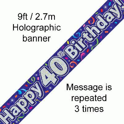 Banner Streamer 40th