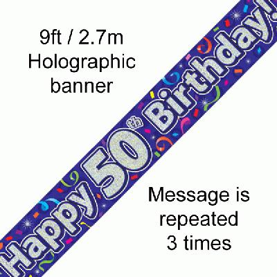 Banner Streamer 50th