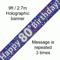 Banner Streamers 80th