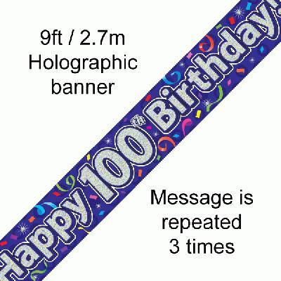 Banner Streamer 100th