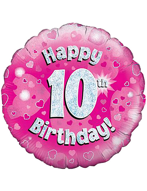 Pink 10th Foil Balloon