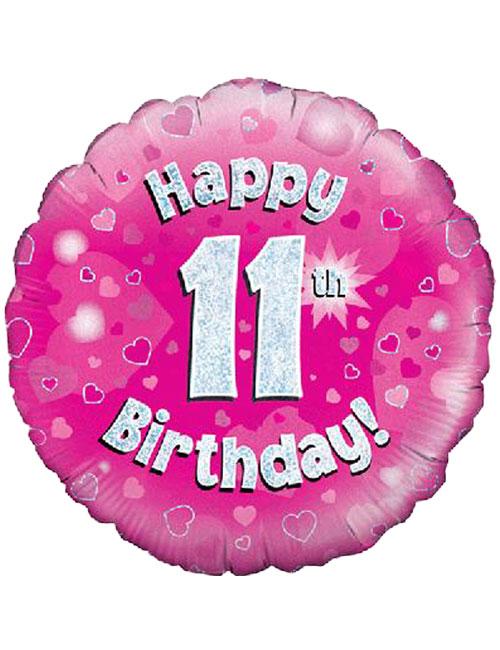 Pink 11th Foil Balloon