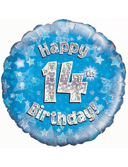 14th Foil Birthday Balloon