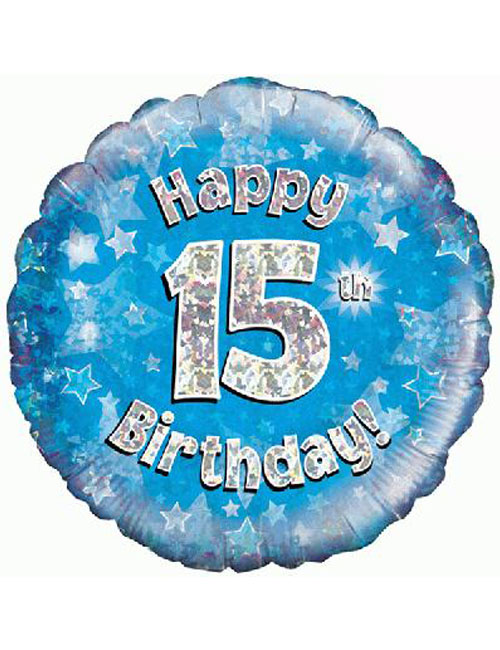 15th Foil Birthday Balloon