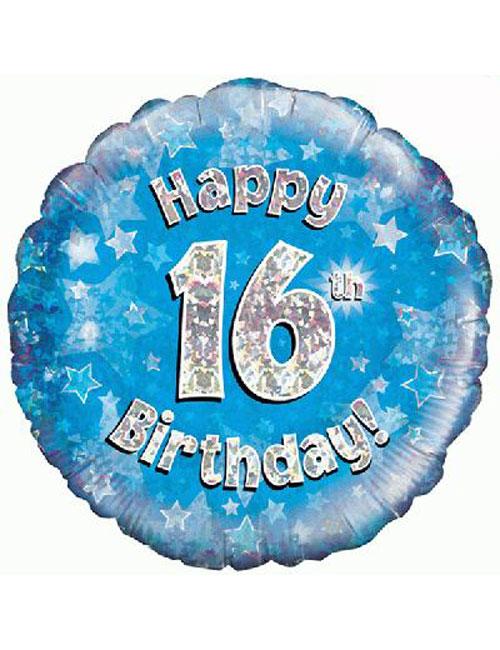 16th Foil Birthday Balloon