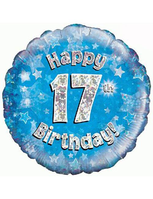 17th Foil Birthday Balloon