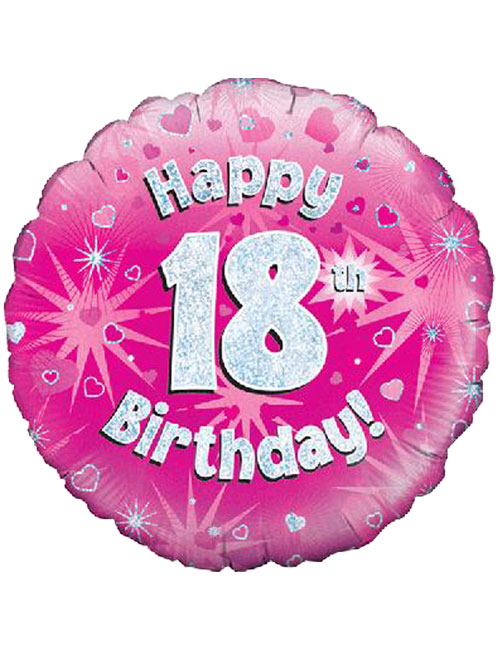 Pink 18th Foil Balloon