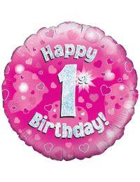 Pink 1st Foil Balloon