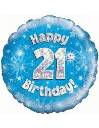 21st Foil Birthday Balloon