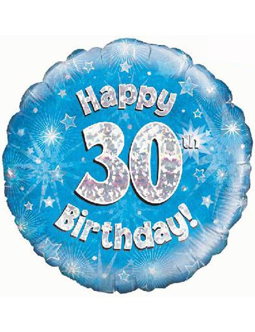 30th Foil Birthday Balloon