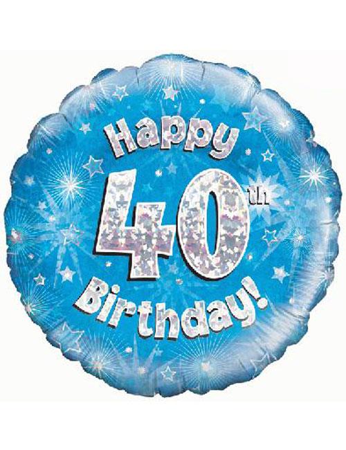 40th Foil Birthday Balloon