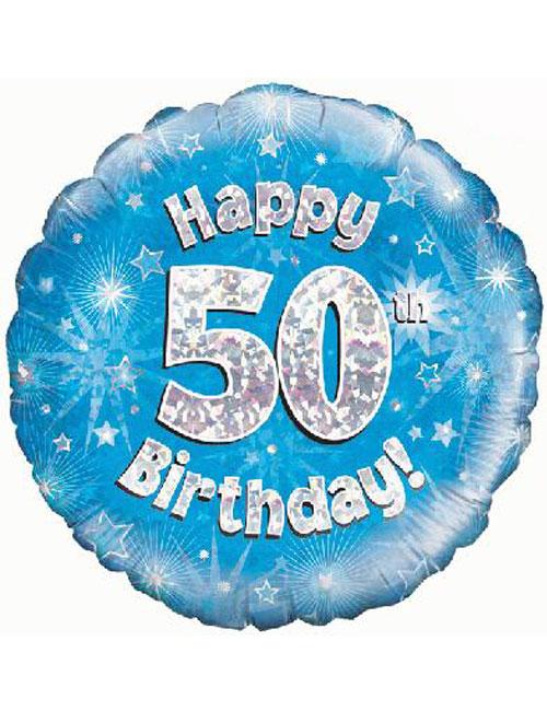 50th Foil Birthday Balloon