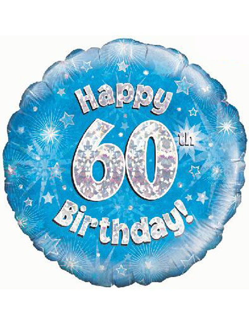 60th Foil Birthday Balloon