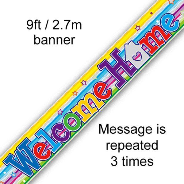 Welcome Home Swirl Banner