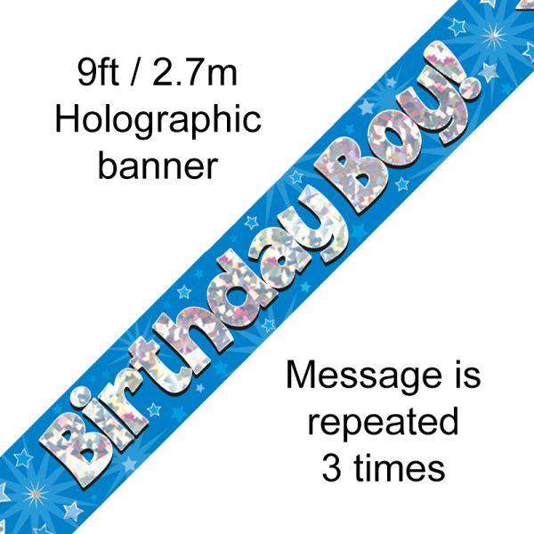 Blue Birthday Boy Banner