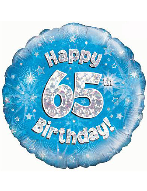 65th Foil Birthday Balloon