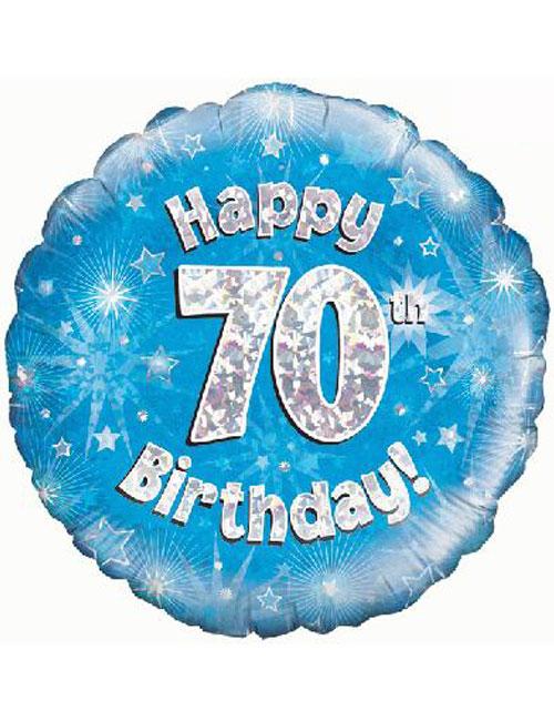 70th Foil Birthday Balloon