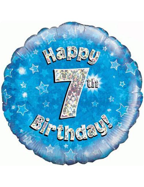 7th Foil Birthday Balloon