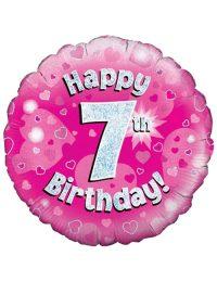 Pink 7th Foil Balloon