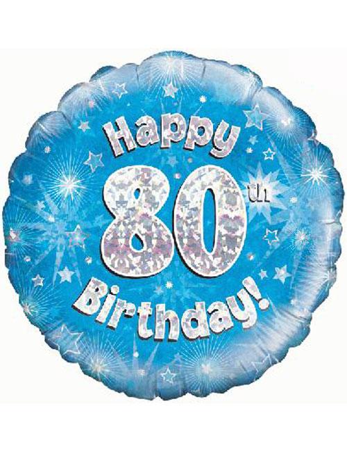 80th Foil Birthday Balloon