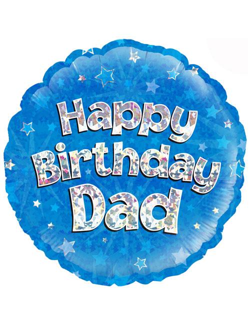 "18"" Blue Birthday Dad"