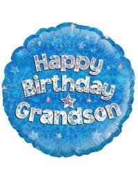 "18"" Blue Birthday Grandson"