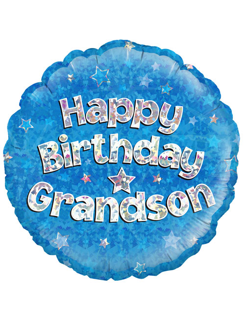 "18"" Blue Birthday Grandson"