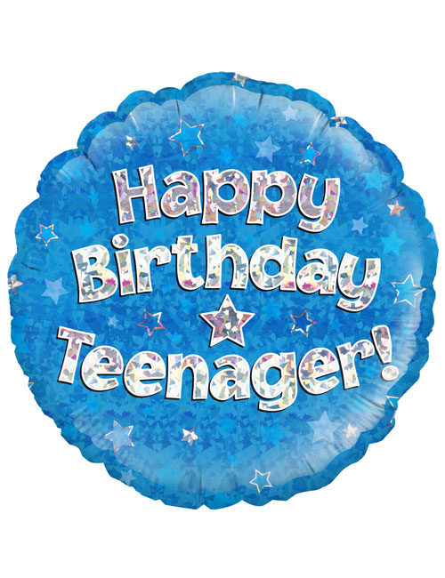 "18"" Blue Birthday Teenager"
