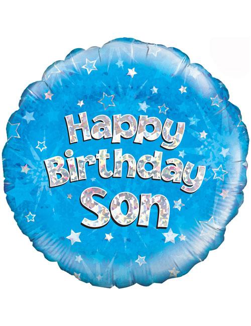 "18"" Blue Birthday Son"