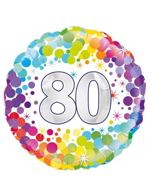 Confetti 80th Balloon