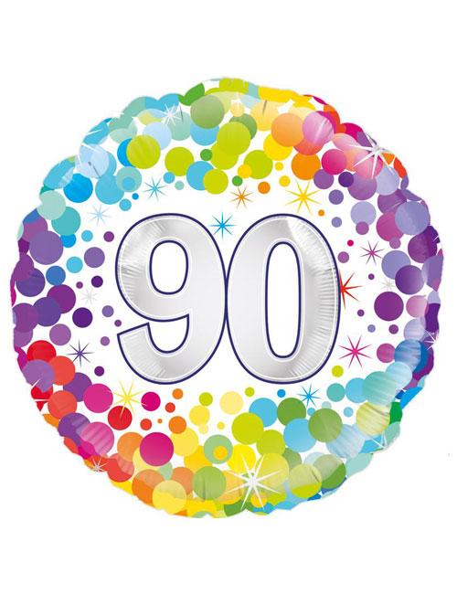 Confetti 90th Balloon