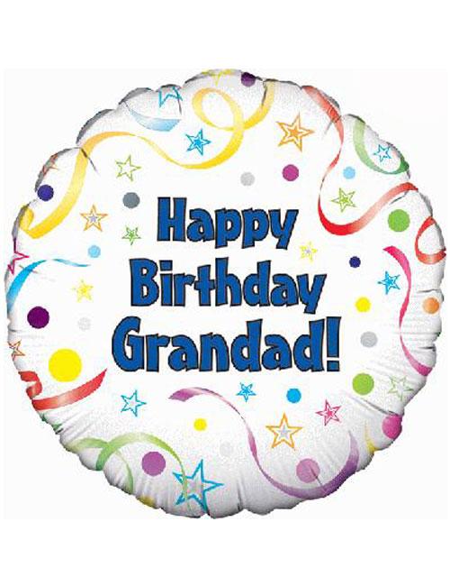 "18"" Happy Birthday Grandad Balloon"