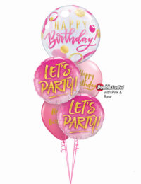 Lets Party Pink Birthday Bouquet