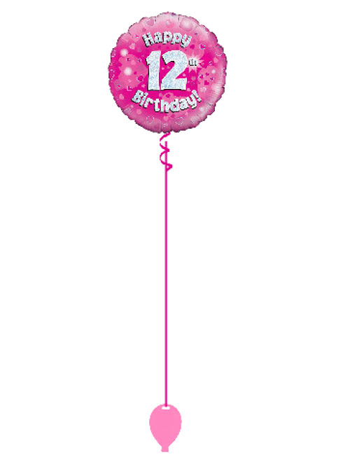 Pink 12th Foil Balloon