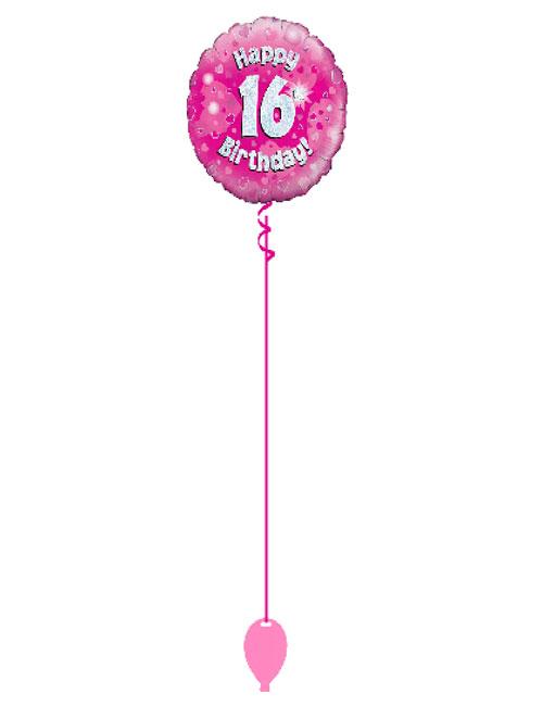 Pink 16th Foil Balloon