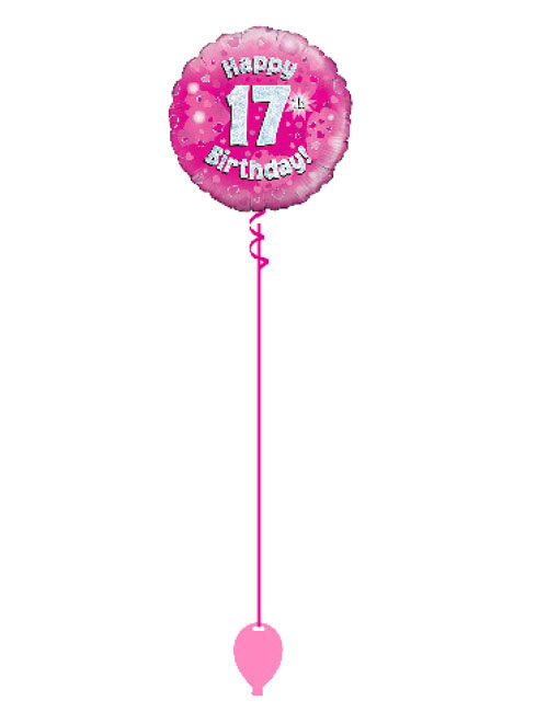 Pink 17th Foil Balloon
